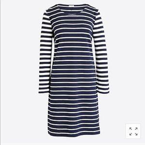 J. Crew Factory Striped Maritime Dress Medium